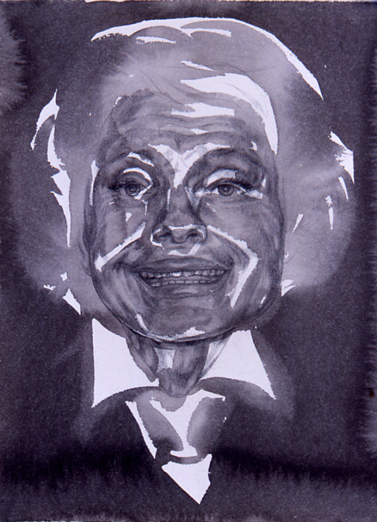 """Carol Channing"" 2004, 12 x 9 in, ink and graphite on paper"