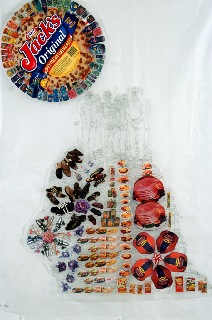 """Jack's Originals"" 2004, pencil, graphite and collage on paper"