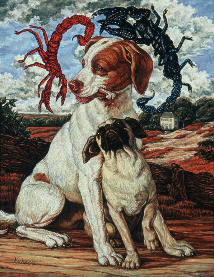 """""""The Bone"""" 1988, 10 x 8 in, oil on linen collection Virginia Wright, Atlanta, GA"""
